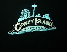 CONEY ISLAND BREWING CO BEER T-SHIRT CYCLONE PARACHUTE FERRIS WHEEL SIZE L