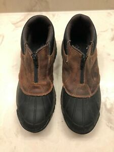 Propet Men's Blizzard Ankle Zip Boot Brown/Black Thinsulate size 9.5 M