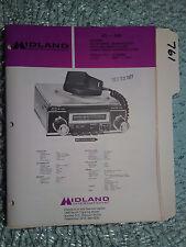 Midland 63-540 service manual original repair book cb radio am/fm mpx in dash