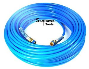 """1/4"""" NPT Fitting X 100 FT Air Compressor PU Hose Roofing Framing Carpentry"""