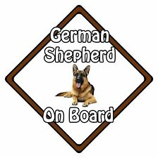 Non Personalised Dog On Board Car Safety Sign - German Shepherd On Board