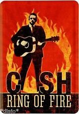 Nostalgic Art Blechpostkarte Johnny Cash Ring of Fire Country Singer Jonny