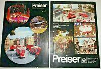 2 X Preiser Miniature Figure & Model  1987 Catalogues HO, OO, 1:87, 1:25.