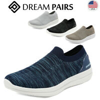 DREAM PAIRS Men's Mesh Breathable Walking Running Casual Shoes Slip On Sneakers
