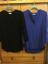 Pleione Women's Blouse Size Small, Set of 2 Tops  - 3/4 Sleeve