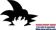 "Goku Hair Dragonball Decal Sticker Funny Vinyl Car Window Bumper Truck Boat 7"""