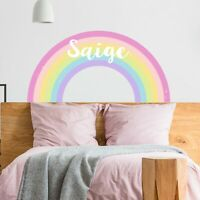 CUSTOM NAME VINYL DECAL WITH RAINBOW WALL STICKER