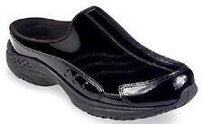 Easy Spirit Traveltime Clogs Size 8 Black Patent Leather Velvety