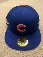 2016 Postseason Chicago Cubs C New Era 9FIFTY Snapback Hat Cap Flat Brim 950 NEW
