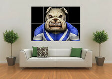 CANTERBURY BULLDOGS INSPIRED RUGBY NRL MASCOT GIANT WALL ART POSTER PRINT