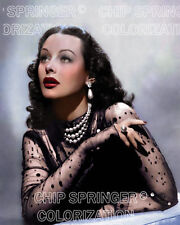 HEDY LAMARR WEARING PEARLS BEAUTIFUL COLOR PHOTO BY CHIP SPRINGER