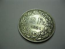 Suisse. Switzerland. 2 Francs. Argent. 1921 B
