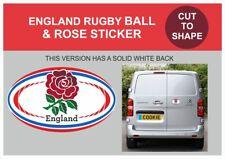 ENGLAND RUGBY ROSE - VINYL STICKER  -VAN/ WALL/  CUPBOARD/WINDOW  - 95