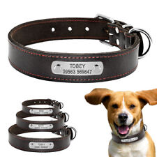 Personalized Pet Dog Collar Custom ID Name Phone Engraved For Medium Large Dogs