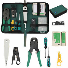 RJ45 RJ11 Crimper Lan Network Ethernet Cabling Hand Tools Kit Crimp Cable Tester
