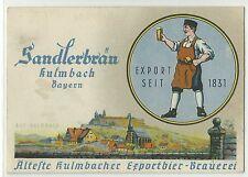 Kulmbach Sandlerbräu Export-Bier Brauerei seit 1831 um 1930