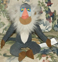 "DISNEY STUFFED PLUSH Bean LION KING RAFIKI THE MONKEY BABOON APE 8"" Mandred Toy"