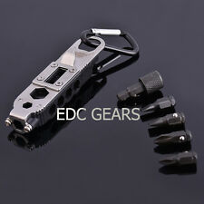 "EDC Multi Tool 3.75"" Get-A-Way Driver Torx Hex Wrench Screwdriver Bottle Opener"