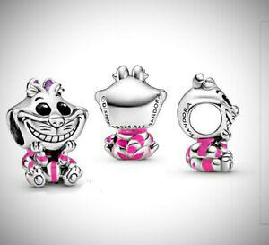 Disney's Cheshire Cat (Alice In Wonderland) Silver S925 Pandora Charm ALE 798850