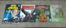 Lot 4 Zombie Books, Zombie Handbook, Book Of The Dead, Zombies!, Survival Guide