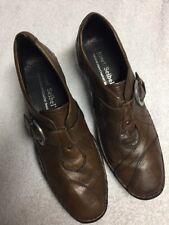 Josef Seibel Women's Brown Leather Comfort Casual Shoes Block Sz 40 U.S. 9.5 b