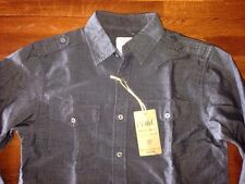 PC&D Boys Shirt Button Down Long Sleeve Gray $58 NWT Large (12)