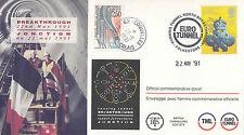 (49580) clairance go / FRANCE couverture euro tunnel percée 28 JUIN 1991