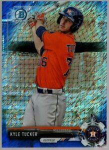 KYLE TUCKER $50++ MINT ROOKIE BLUE SHIMMER REFRACTOR BCP28 RC 2017 BOWMAN CHROME