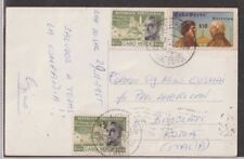 CABO VERDE PORTUGAL 1955 POSTCARD COVER FRANKED TO ITALY