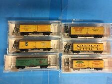 N Scale Micro Trains Line 6 Pack 40' Dbl. Sheathed Wood Reefers lot