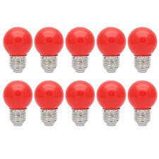 10er E27 Farbig Lampe Bunt Dekoration Birne Leuchtmittel Partybeleuchtung Rot