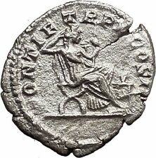 CARACALLA 207AD Ancient Silver Roman Coin Securitas on dictators seat  i33550