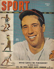 1949, (Apr.) Sport Magazine, baseball, Bob Feller, Cleveland Indians