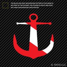 Anchor Shaped Dive Flag Sticker Decal Self Adhesive Vinyl scuba diver #2