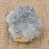 Natural Celestite Figurine Blue Celestine Drusy Cluster Quartz Mineral Specime