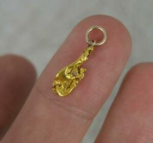 Victorian 22ct Yellow Gold Nugget Charm Pendant