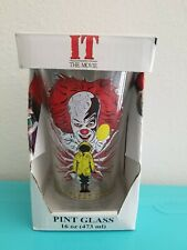 "IT: The Movie Pennywise ""They All Float Down Here"" 16oz. Pint Glass Tumbler NIB"