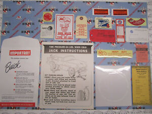 1956 Buick 4 BBL Engine & Interior Decal/Tag Kit   Set of 16