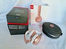 Beats by Dr Dre Solo 3 Headphones Wireless - Bluetooth w/Case, Box, ROSE GOLD