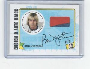 2009 ITG 1972 The Year in Hockey MA-BN Bob Nystrom Emblem/Auto Black 1/6 Island
