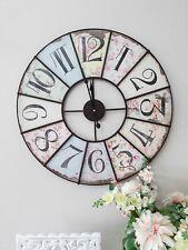 Beautiful Shabby Chic Ditsy Iron Wall Clock 59cm
