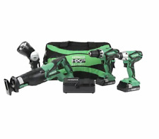Hitachi 18-Volt 4-Tool Power Combo Kit w/Soft Case 2-Batteries & Charger Include