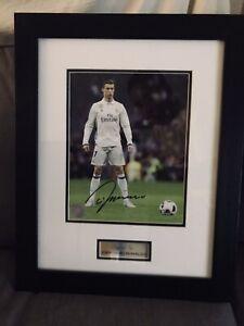 Framed Cristiano Ronaldo Autographed Real Madrid