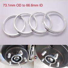 4 * Wheel Hub Centric Rings Spigot Rings Spacer Aluminium 73.1mm OD to 66.6mm ID