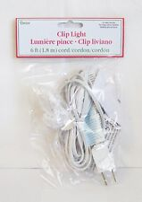 Darice 6' long Light Cord Bulb, Clip On/Off Switch Compatible with Department 56