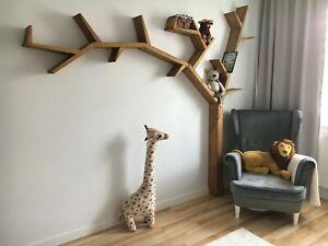 Wooden shelf tree-shaped, bookcase