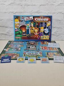 Cluedo The Simpsons Board Game 2001 100% Complete Detective Game Bart Homer