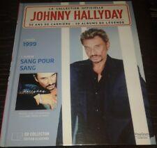 JOHNNY HALLYDAY LIVRE + CD DE LA COLLECTION OFFICIELLE SANG POUR SANG