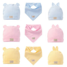 Baby Girls Infant Colorful Soft Hat with Cute Ear Newborn Cotton Beanie Cap Nice