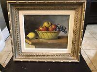 original H. Lerand Oil On Canvas Still Life Painting Signed